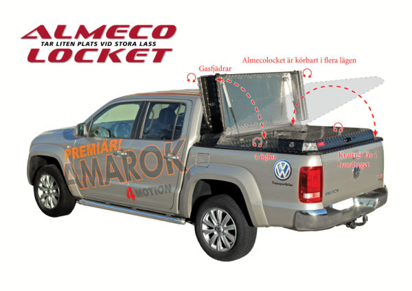 Almecolock flaklock pickup VW Amarok 2010- 4