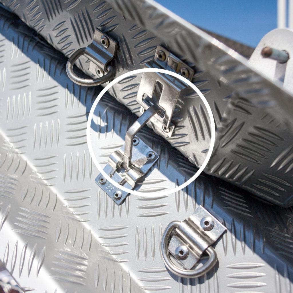 Almecolocket vikbart flaklock i aluminium till pickup 13