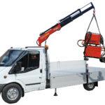 Kranmontering på lätt och medeltung transportbil 14