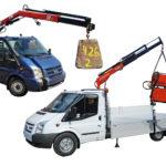 Kranmontering på lätt och medeltung transportbil 13