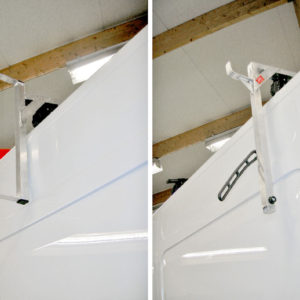 Steghållare för sidomontering