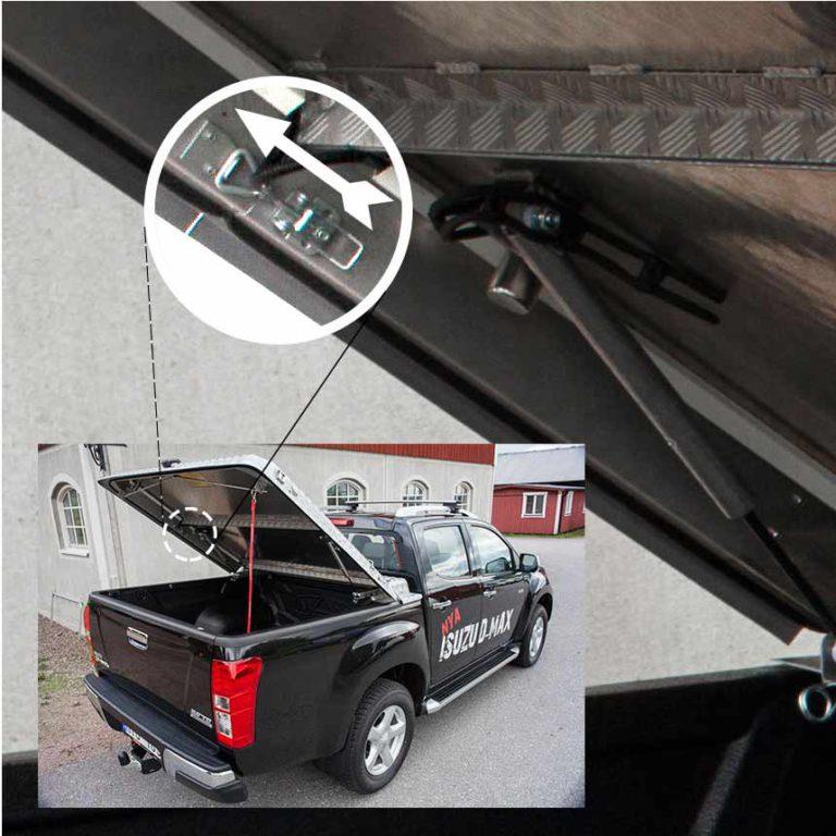 Almecolocket vikbart flaklock i aluminium till pickup 6