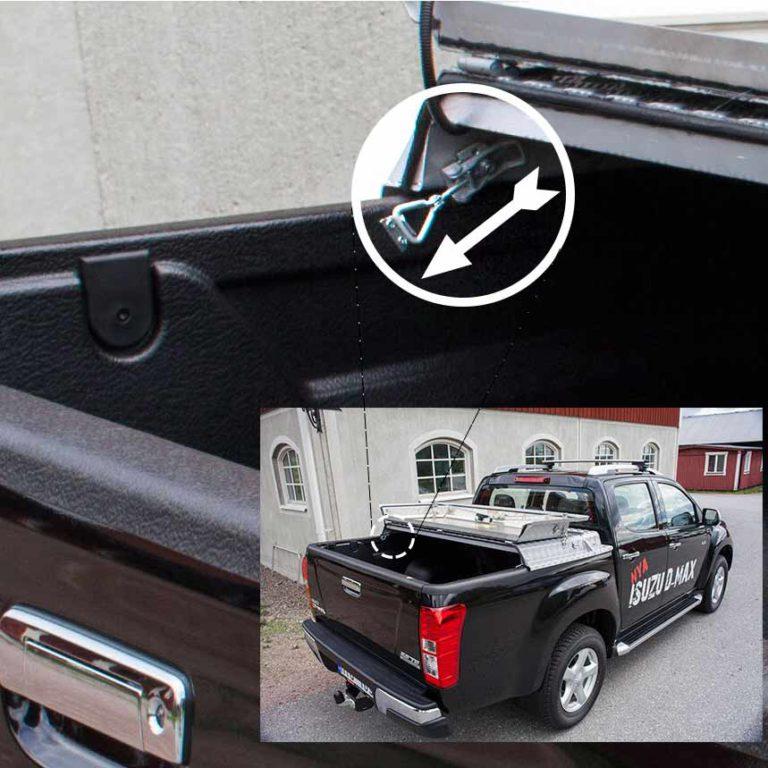 Almecolocket vikbart flaklock i aluminium till pickup 8