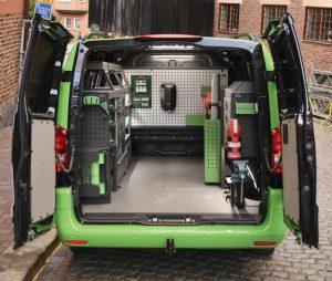 System Edström serviceinredning för servicebilar 2