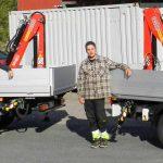 Kranmontering på lätt och medeltung transportbil 28