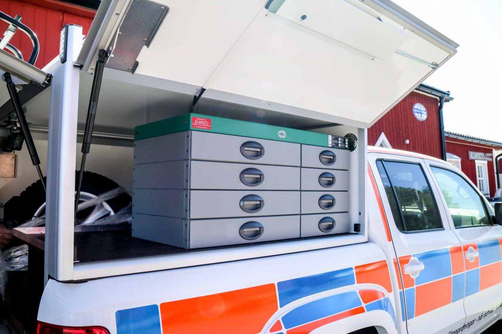 System Edström serviceinredning för servicebilar 4