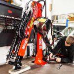 Kranmontering på lätt och medeltung transportbil 21