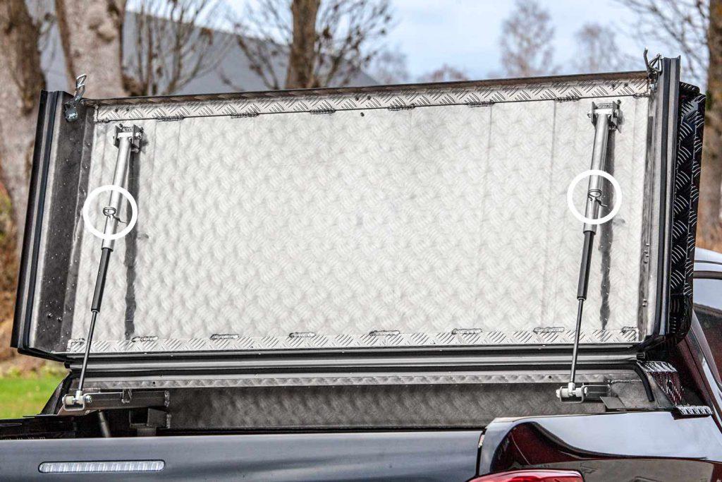 Almecolocket vikbart flaklock i aluminium till pickup 12