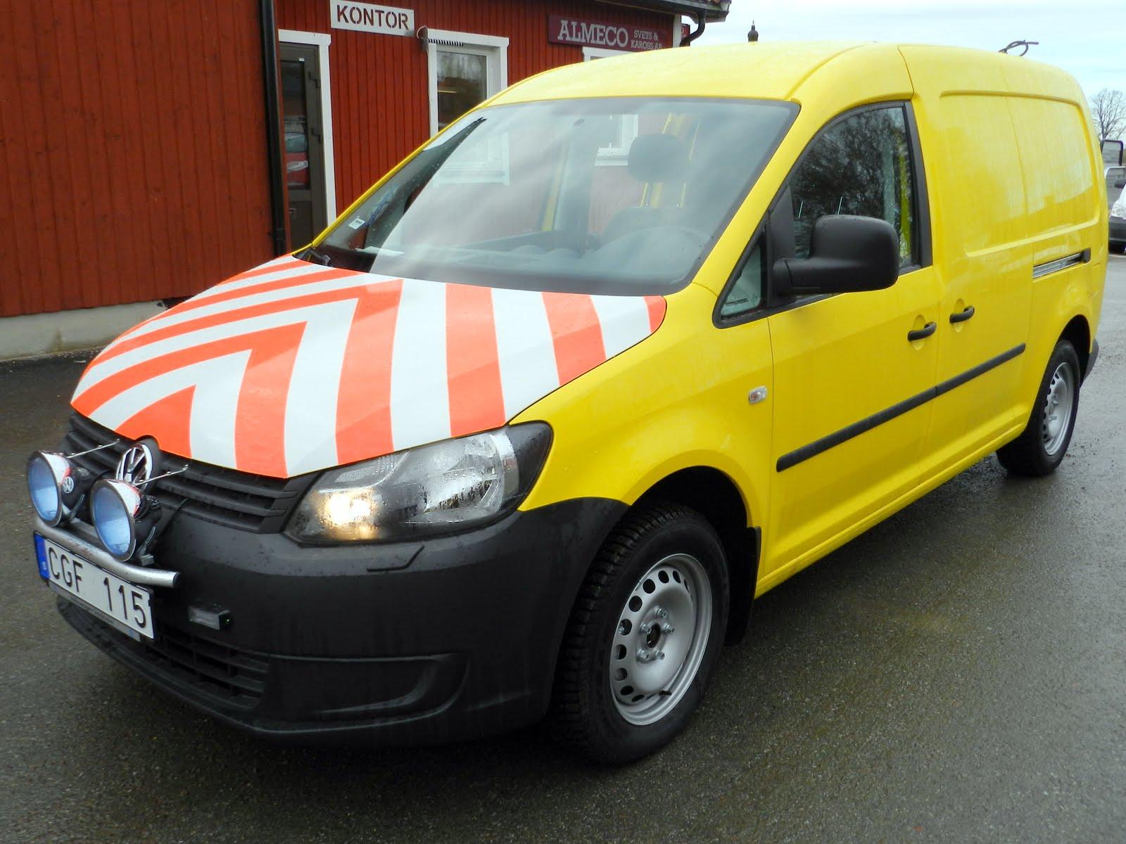 VTL-bil Caddy Maxi till Stockholms vägtransport
