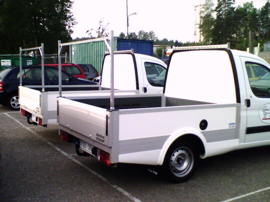 Peugeot Partner Boxline pickup med stöd.