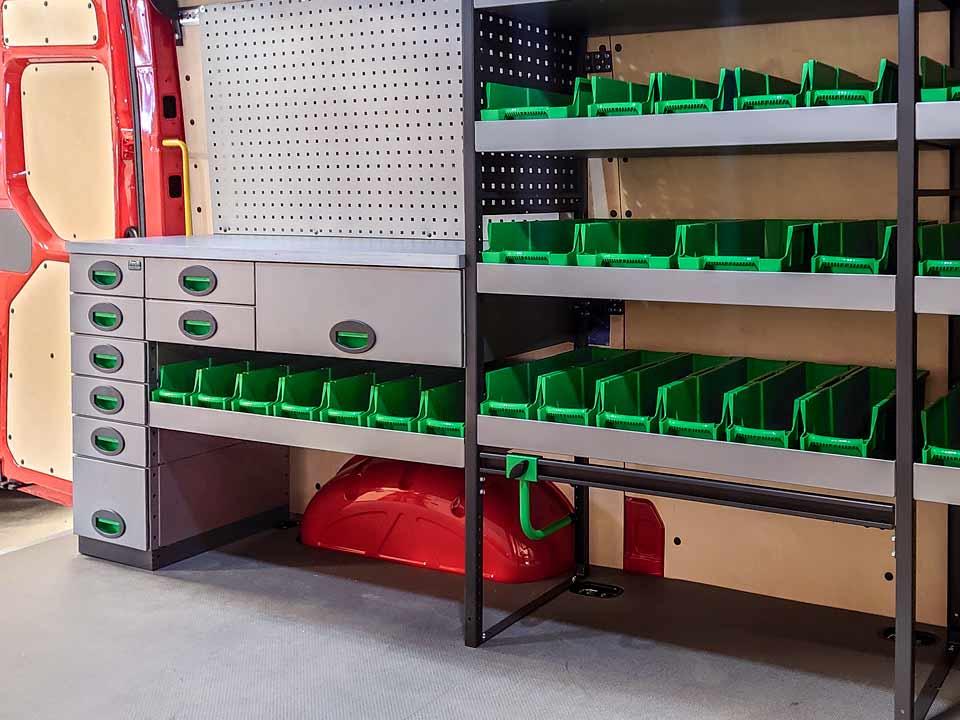 Påbyggare utrustning och inredning yrkesfordon.