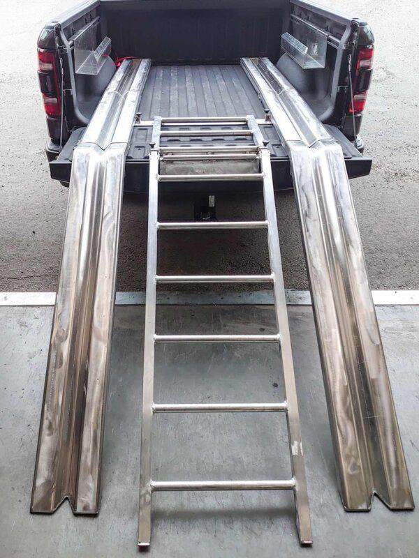 Skoterramp aluminium. Byggs av Almeco.
