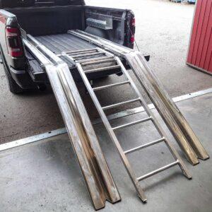 Skoterramp snöskoter pickup aluminium